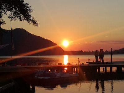 Strandbad Unterburg Sonnenuntergang